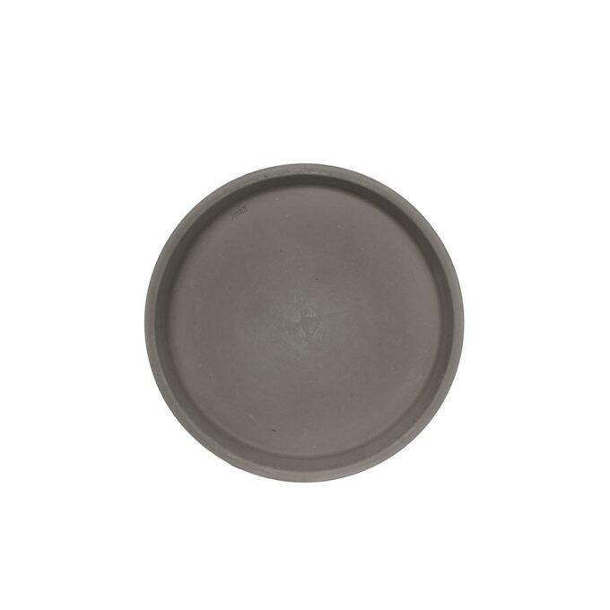 Underskål til terracotta potte grå i mange forskjellige størrelser fra 8,5 til 24 cm i diameter