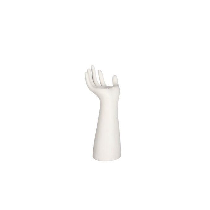 Vase hand hvit Høyde 22 cm