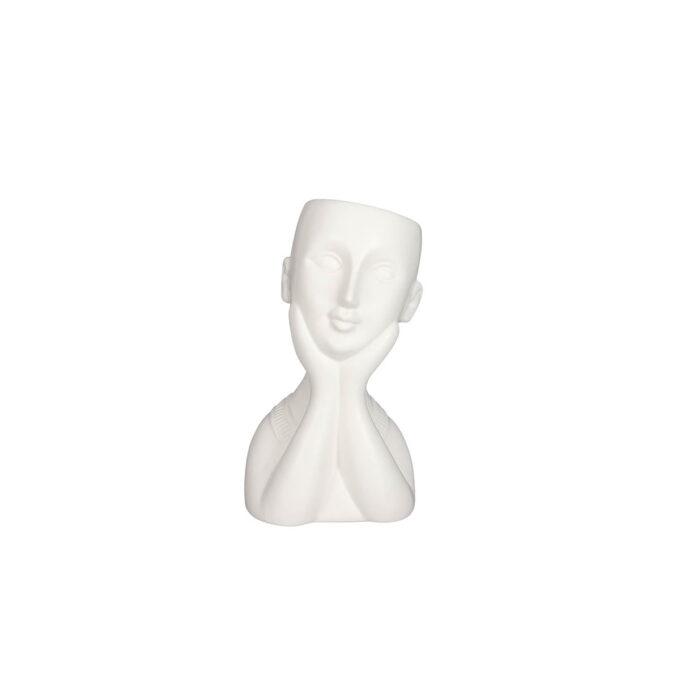 Vase med ansikt 11,5x10,5c 21 cm høy