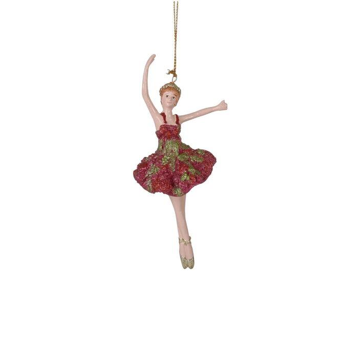 Yndig ballerina kledd i rødt og gull er klar for julens festforestilling. La henne skinne alene eller sammen med noen av de andre figurene i samme serie.