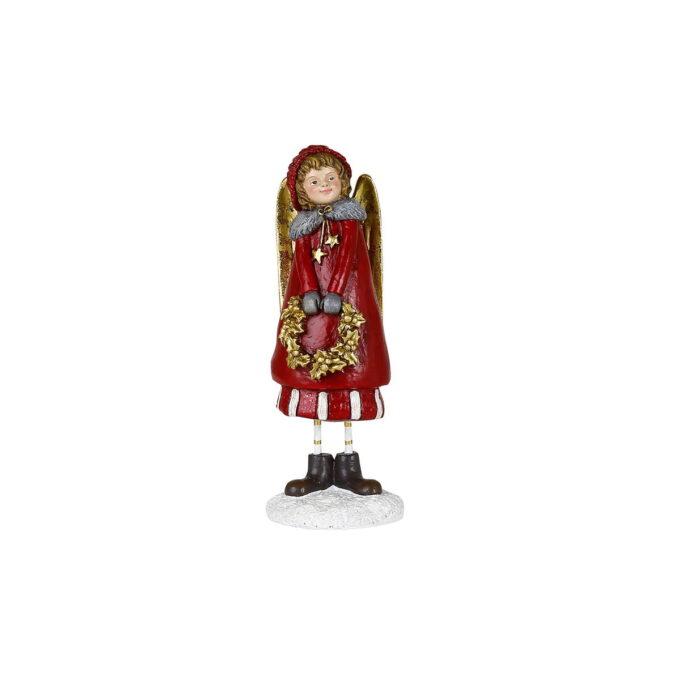 Søt engel i rødt med gulldetaljer lover magi julen gjennom.