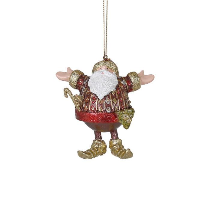 Selveste julenissen er klar for å innfri alle dine ønsker. Passer fint på treet eller i vinduet