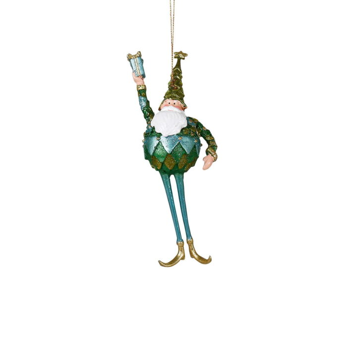 Rekk opp hånda den som gleder seg til jul! Gøyal nisse i naturfarger.