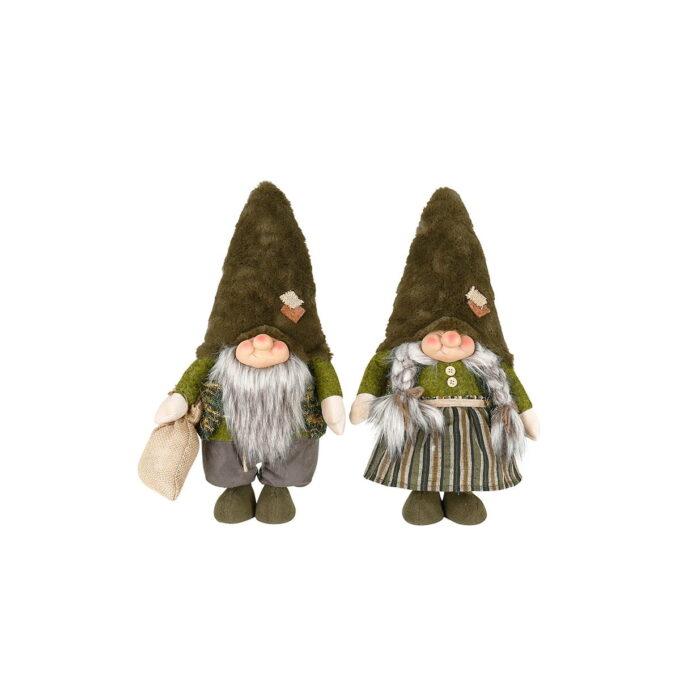 Nisseparet Laila og Arild! Kledd i naturfarger og med lua godt trukket ned over ørene kommer de rett fra fjellet for å holde deg med selskap.