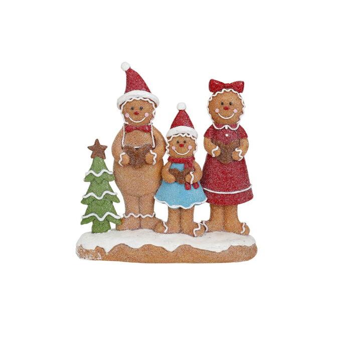 Mer sjarmerende juepynt skal du lete lenge etter! La denne pepperkakefamilien få flytte inn denne julen.