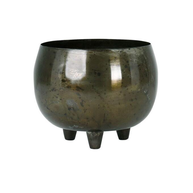 Stilren potteskjuler i stål.
