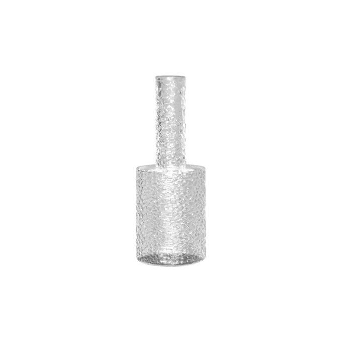 """Nydelig vase i ruglete glass fra dbkd. Dette utgaven er """"kortere"""" i halsen . Nydelig til snittblomst eller en kvist."""