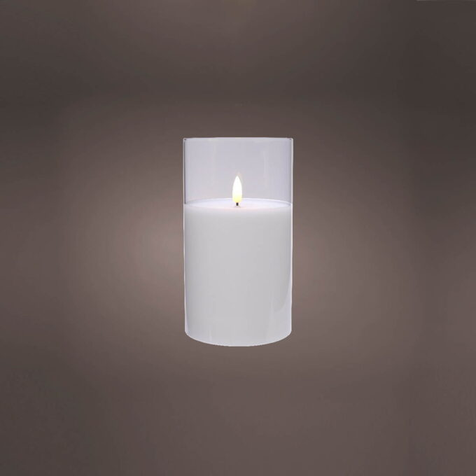 Kubbelys i LED m glass klar Batteri 2xAA