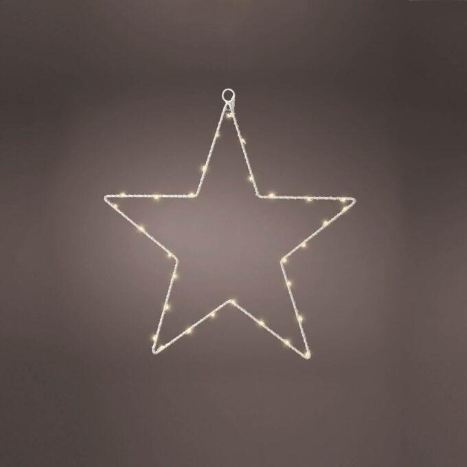 Stjerne MicroLED 30 Lys. Kan brukes utendørs og går på batteri med timer