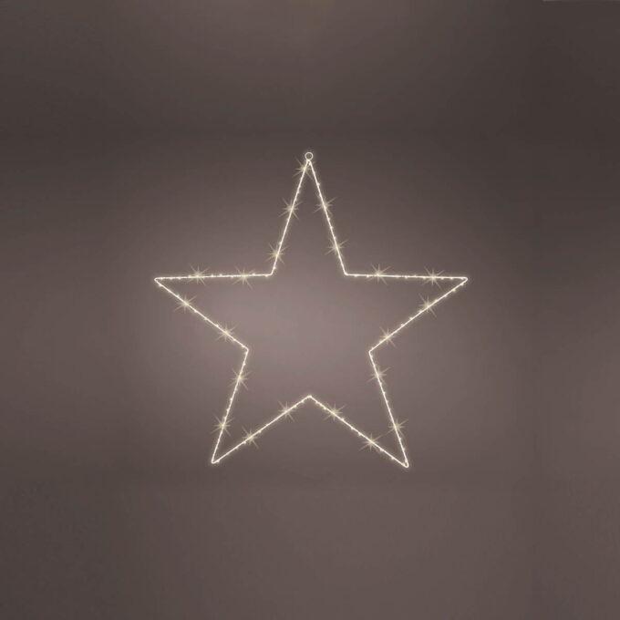 Stjerne MicroLED 120 Lys. Kan brukes utendørs og går på strøm. Ledekabel 5 meter.